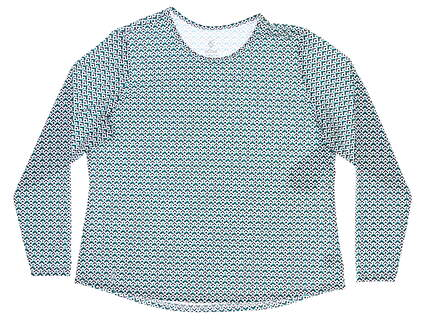New Womens GG BLUE Protection Tee XX-Large XXL Multi MSRP $80 E1072-3864