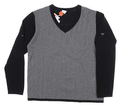 New W/ Logo Womens Ping Imogen Sweater Large L (10) Black MSRP $80 P93350
