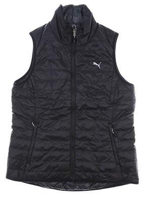 New Womens Puma PWRWARM Reversible Vest Large L Black MSRP $98 573285 01