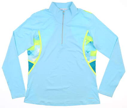 New Womens Cutter & Buck Annika 1/2 Zip Pullover Medium M Blue MSRP $115 LAK00129