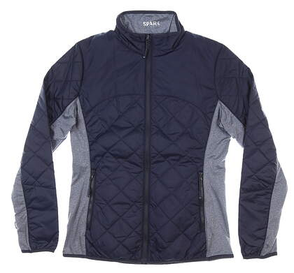 New Womens Cutter & Buck Sandpoint Quilted Jacket Medium M Navy MSRP $155 LCO09999