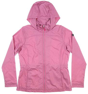 New Womens Cutter & Buck Panoramic Packable Jacket Medium M Pink MSRP $135 LCO00013
