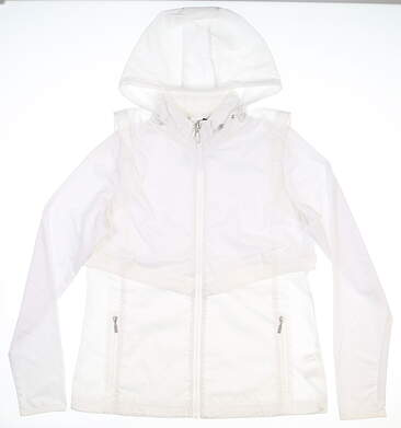 New Womens Cutter & Buck Ava Hybrid Jacket Medium M White MSRP $140 LCO09993