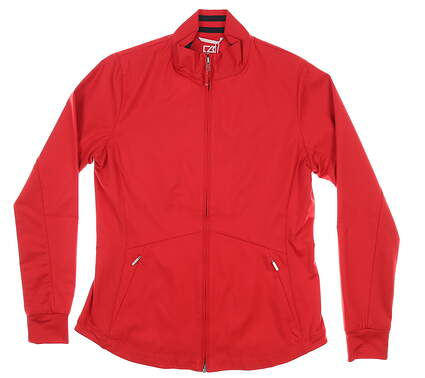 New Womens Cutter & Buck Nine Iron Jacket Medium M Red MSRP $105 LCO00005