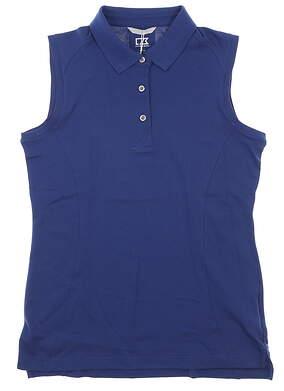New Womens Cutter & Buck Advantage Sleeveless Polo Medium M Blue MSRP $60 LCK00063