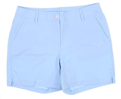 New Womens Cutter & Buck Response Shorts 8 Blue MSRP $100 LCB00009