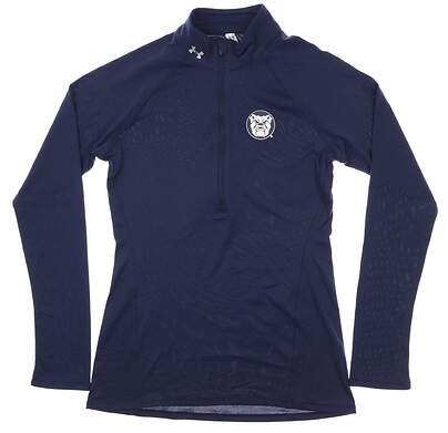 New W/ Logo Womens Under Armour 1/2 Zip Pullover Small S Navy MSRP $70 UW2845