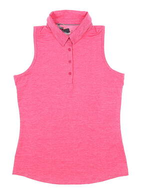 New Womens Under Armour Sleeveless Golf Polo Large L Pink MSRP $60 UW0468