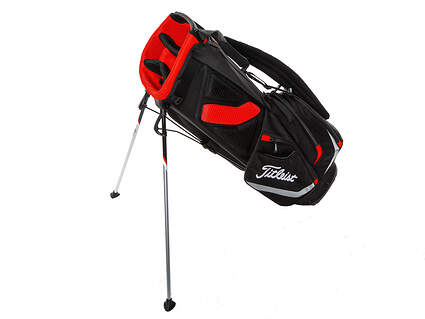 Brand New Titleist Players 4 Stand Bag Black/Red