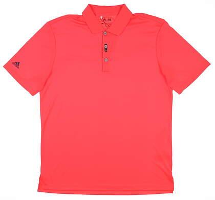 New Mens Adidas Performance Golf Polo Medium M Pink MSRP $60