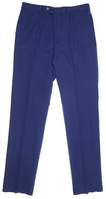 New Mens Peter Millar Seaside Pants 34 X35 Blue MSRP $120 MS18B70