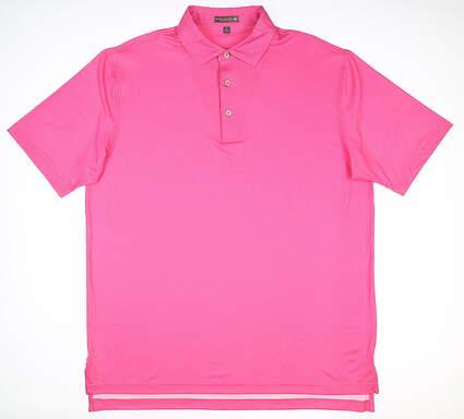New Mens Peter Millar Golf Polo Large L Pink MSRP $85 MS18EK17S