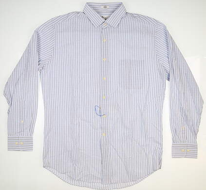 New Mens Peter Millar Seaside Button Down Large L Multi MSRP $145