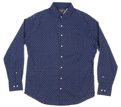 New Mens Peter Millar Button Down Large L Blue MSRP $148 MS18EW11SL