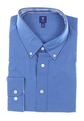 New Mens Footjoy 1857 Stretch Twill Button Down X-Large XL Blue MSRP $165 27869