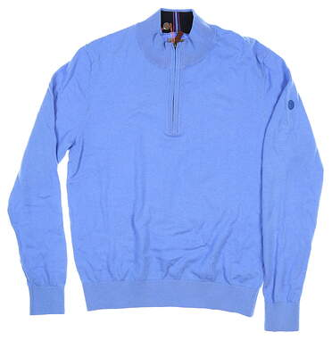 New W/ Logo Mens Fennec 1/4 Zip Sweater Medium M Blue MSRP $150 182F367