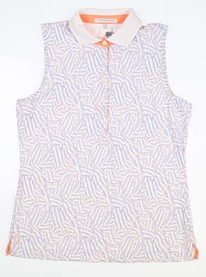 New Womens Fairway & Greene Ivy Sleeveless Polo Medium M Multi MSRP $90 I32220