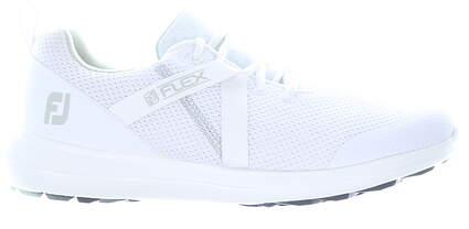 New Womens Golf Shoe Footjoy Prior Generation FJ Flex Wide 7 White MSRP $90 95725