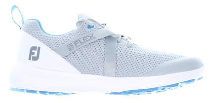 New Womens Golf Shoe Footjoy Prior Generation FJ Flex Wide 7.5 Gray MSRP $90 95727