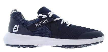 New Mens Golf Shoe Footjoy FJ Flex Wide 7.5 Blue MSRP $90 56102