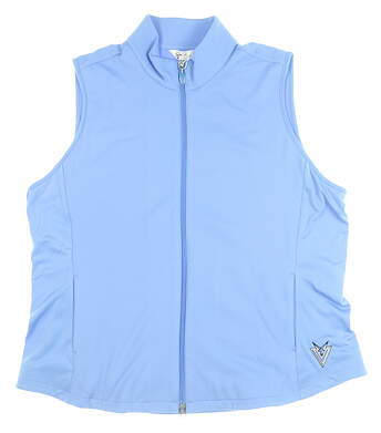 New W/ Logo Womens Greg Norman Vest XX-Large XXL Blue MSRP $70