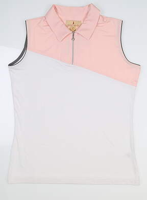 New Womens Sport Haley Sleeveless Golf Polo Medium M Pink MSRP $82 H18208TM