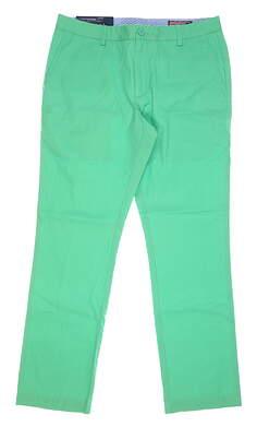 New Mens Vineyard Vines Slim Fit Breaker Pants 34 x32 Green MSRP $99 1P0071-370