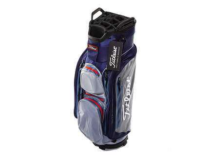 Brand New Titleist StaDry Deluxe Navy/Sleet/Rose Cart Bag