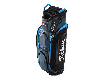 Brand New Titleist Club 14 Charcoal/Black/Process Blue Cart Bag