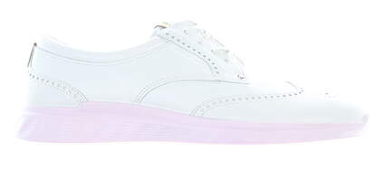 New Womens Golf Shoe Ecco S-Classic 39 (8-8.5) White/Pink MSRP $220 10270301007