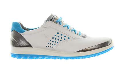 New Womens Golf Shoe Ecco Biom Hybrid 38 (7-7.5) White/Blue MSRP $100 12021355234