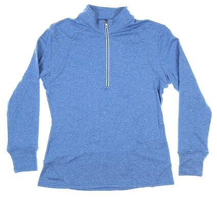 New Womens Footjoy 1/2 Zip Pullover Medium M Blue MSRP $89 25473