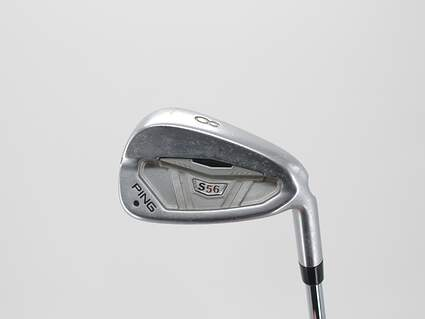 Ping S56 Single Iron 8 Iron FST KBS Tour Steel Stiff Right Handed Black Dot 36.25in