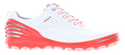 New Mens Golf Shoe Ecco Cage Pro EU 42 (8-8.5) White/Red MSRP $210 13300450990