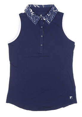 New Womens BETTE & COURT Sleeveless Polo Small S Navy Blue MSRP $74 B10205TM
