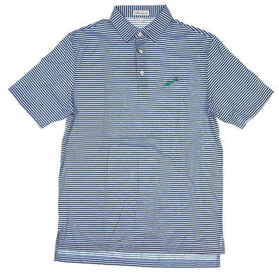 New W/ Logo Mens Peter Millar Golf Polo Small S Blue MSRP $95 MF19K02S