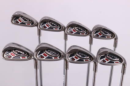Ping G15 Iron Set 7-PW GW SW LW Ping AWT Steel Stiff Right Handed Maroon Dot 39.0in