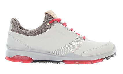 New Womens Golf Shoe Ecco BIOM Hybrid 3 EU 39 (8-8.5) White/Pink MSRP $200 12550358365