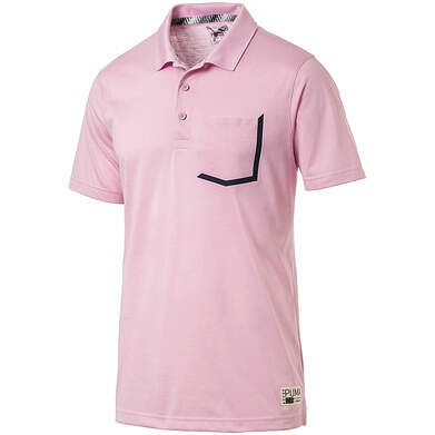 New Mens Puma Faraday Polo X-Large XL Pale Pink MSRP $70 577878 04