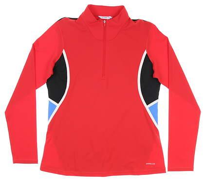 New Womens Cutter & Buck Annika Dimension Colorblock 1/2 Zip Medium M Red MSRP $110 LAK00144