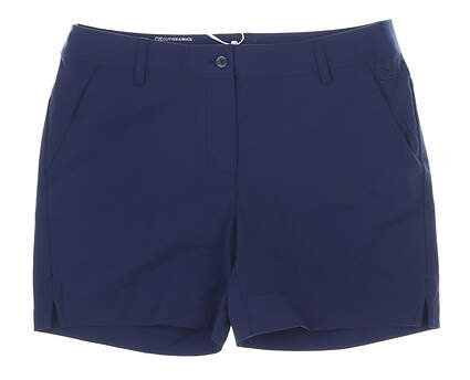 New Womens Cutter & Buck Response Shorts 8 Navy Blue MSRP $100 LCB00009