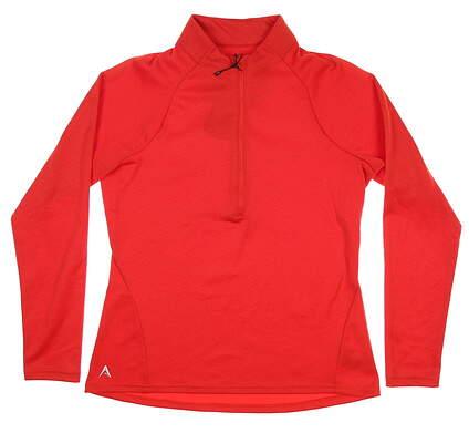 New Womens Antigua Shield 1/2 Zip Pullover Medium M Red MSRP $75 104075