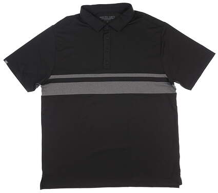 New Mens MATTE GREY Anders Polo X-Large XL Black MSRP $70 110077