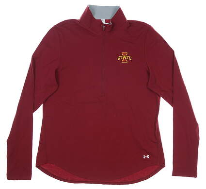 New W/ Logo Womens Under Armour 1/2 Zip Pullover X-Large XL Maroon MSRP $65 UW2259