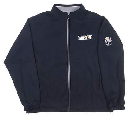 New Mens Ahead 2020 Ryder Cup Full-Zip Jacket Medium M Navy MSRP $95 OD22