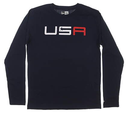 New Mens New Era 2020 Ryder Cup Long Sleeve Tee Large L Navy MSRP $42 NE94014M