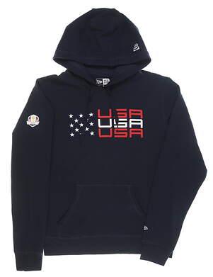 New Mens New Era 2020 Ryder Cup Brushed Fleece Hoodie Small S Navy MSRP $78 NE96062M