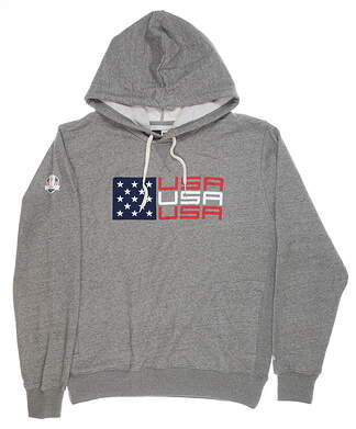 New Mens New Era 2020 Ryder Cup French Terry Hoodie Medium M Gray MSRP $78 NE97070M