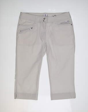 New Womens Daily Sports Miracle Capri Pants 10 Gray MSRP $127 843/217
