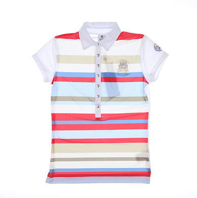 New W/ Logo Womens Daily Sports Trixie Polo Small S White MSRP $95 743/142